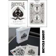 Bicycle Ghost WHITE műanyag bevonatú kártya