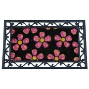 Covoras Intrare cu Imprimeu Floral si Rama cu Model pentru Exterior sau Interior