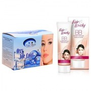 FAIR LOVELY BB INSTANT FAIR LOOK CREAM 40g WITH PINK ROOT OXY BLEACH 250G PACK OF 2