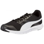 Puma Flexracer Men's Black and White DP Sneakers -6 UK/India (39 EU)