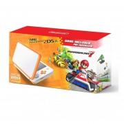 Consola New Nintendo 2DS XL + Mario Kart 7-Blanco/Naranja