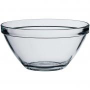 Merkloos 1x Snack/serveerschalen van glas 10 x 20 cm 1.7 Liter