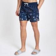 River Island Mens Navy floral fade swim shorts - Size XXS (EU)