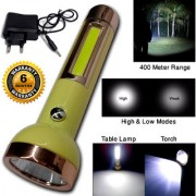 2in1 2 Mode Rechargeable Waterproof Long Beam Table Lamp LED Flashlight Torch Outdoor Lamp Light Emergency Lights 9W