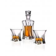 Комплект от 6 броя чаши за уиски и бутилка Bohemia Crystalite Cooper