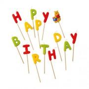 "Winnie Pooh ""Happy Birthday"" Toothpick Candles - BV9294 - 14Pcs"