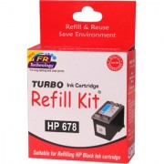 Turbo ink refill kit for HP 678 Black ink cartridge