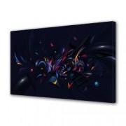 Tablou Canvas Premium Abstract Multicolor Culori In Forme Neobisnuite Decoratiuni Moderne pentru Casa 80 x 160 cm