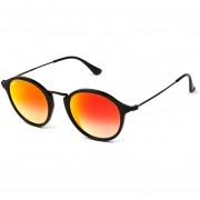 Lentes de Sol Ray-Ban Round Fleck RB2447 901/4W -Naranja Degradado Espejo