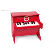 JANOD Drewniane pianino Confetti - czerwone pianinko muzyczne dla dzieci,