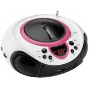 Lenco SCD-38 USB FM CD-radio AUX, CD, FM, USB Roze