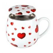 Könitz Tee Tasse mit Deckel & Sieb Little Hearts