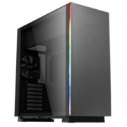 Кутия AeroCool GLO RGB, SSI-CEB/ATX/Micro-ATX/Mini-ITX, 2x USB 3.0, RGB, 1x 120mm вентилатор, прозорец, черен, без захранване
