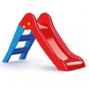 Tobogan pentru copii prevazut cu scara rosu-albastru 70x111x47cm