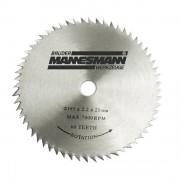Disc pentru fierastrau circular taiere lemn Mannesmann M12896 O185 x 20 mm 60 dinti