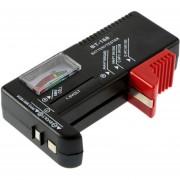 ER AA/AAA/C/D/9V/1,5 Voltios Pilas Botón Universal Tester Checker BT-168 -Negro