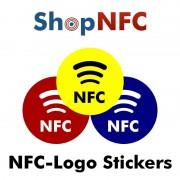Etiqueta NFC NTAG213 adhesiva con logotipo NFC