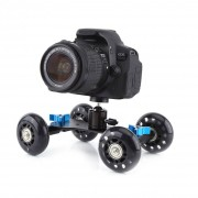 Universele 4 Wiel Desktop Vedio Spoor Slider Dolly Auto voor DSLR Camera Camcorder Sport Actie Camera