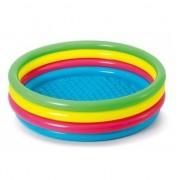 Merkloos Gekleurd rond opblaasbaar zwembad 150 cm voor kinderen