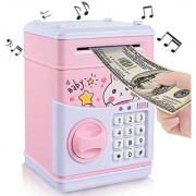 Best Piggy Bank Mini Atm Money Box Safety Electronic Password Chewing Coins Cash Deposit Machine (Assorted Colors)