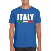 Bellatio Decorations Blauw Italie supporter shirt heren