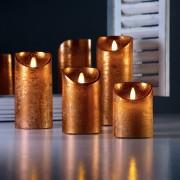 Luci Da Esterno Candela con Fiamma LED in movimento alta 10 cm Rustic Rame