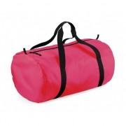 Bagbase Fuchsia neon roze ronde polyester sporttas/weekendtas 32 liter