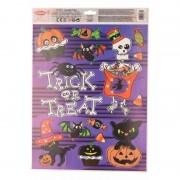 Merkloos Halloween raamdecoratie stickervel paars