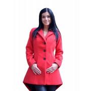 Dámský vlněný kabát s prodlouženým zadním dílem Exclusive