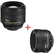 Обектив Nikon AF-S 85mm f/1.8G Nikkor Lens for Nikon Digital SLR Cameras+Обектив Nikon AF-S NIKKOR 50mm f/1.8G