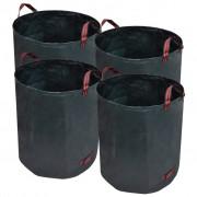 vidaXL Coșuri de gunoi 272 L 150 g/mp, 4 buc., Verde închis