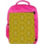 Snoogg Eco Friendly Canvas Small Stars Yellow Designer Backpack Rucksack School Travel Unisex Casual Canvas Bag Bookbag Satchel 5 L Backpack(Pink)