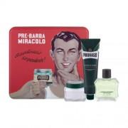 PRORASO Green After Shave Lotion set cadou aftershave 100 ml + crema de barbierit 150 ml + crema inainte de barbierit 100 ml + cutie pentru bărbați