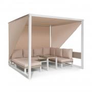 Blumfeldt Havana, pavilon & Lounge-Set, 270x230x270cm, 4 duplaülés, fehér (GDW20-Havanna)