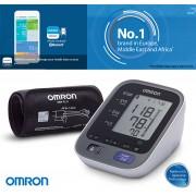 Tensiometru Omron M7 Intelli IT - brat, manseta inteligenta, LED-uri avertizare, conectare Bluetooth + adaptor priza inclus