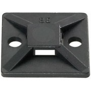 Soclu înşurubabil, MB TY, 19 x 19 x 3.8 mm, negru, Ø orificiu fixare 3.1 mm, cu adeziv