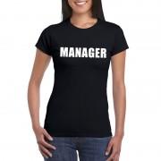 Shoppartners Manager tekst t-shirt zwart dames
