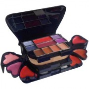 Pamper Color Series Makeup Kit 8 Eyeshadow 1 Power Cake 8 Lip Color 2 Blusher (Product Color May Vary) 22g