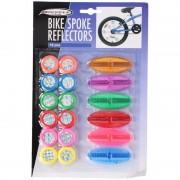 Gekleurde reflectoren voor kinderfiets spaken