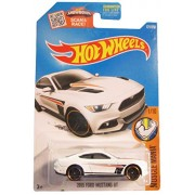 Hot Wheels 2016 Muscle Mania 2015 Ford Mustang GT White Die-Cast Vehicle 121 250