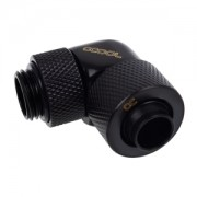 Fiting compresie 90 grade Alphacool Eiszapfen 13/10mm - filet exterior G1/4 rotativ - Deep Black