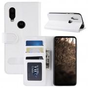 Capa Tipo Carteira para Motorola One Vision com Suporte - Branco