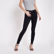 River Island Womens Black washed Molly distressed jeggings