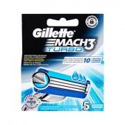 Gillette Mach3 Turbo náhradní břit 5 ks pro muže