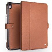 QIALINO Business Style Smart Cowhide Leather Case Cover for iPad Pro 11-inch (2018) - Brown