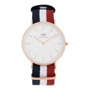 メンズ DANIEL WELLINGTON 0103DW CLASSIC CAMBRIDGE WATCH ROSE GOLD 40MM 腕時計 ホワイト