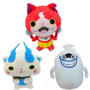 "3pcs/set 11"" Anime Cartoon Yo-Kai Watch Cat Jibanyan Komasan Whisper Plush Toys Yokai Watch Soft Stuffed Toys Dolls With Tag"