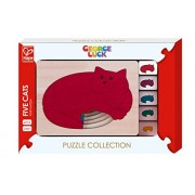 Hape George Luck Five Cats Wood Puzzle (5 Piece)