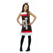 Tootsie Roll Ruffle Dress Child Costume