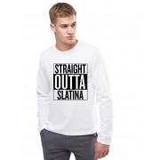 Bluza barbati alba - Straight Outta Slatina